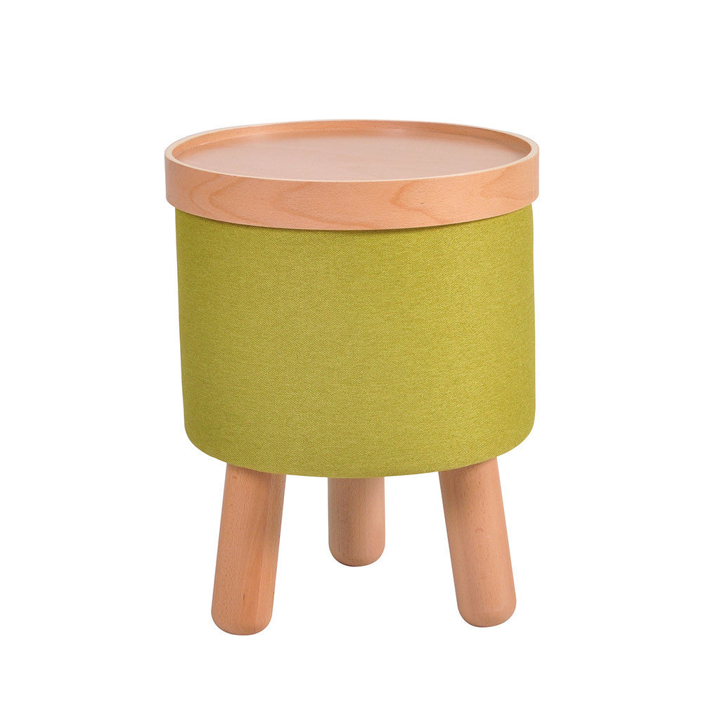 Stool Molde with Removable Tray Small - Green