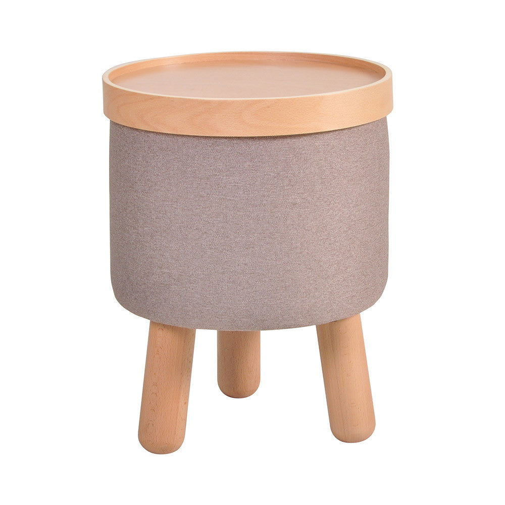 Stool Molde with Removable Tray Small - Beige Brown