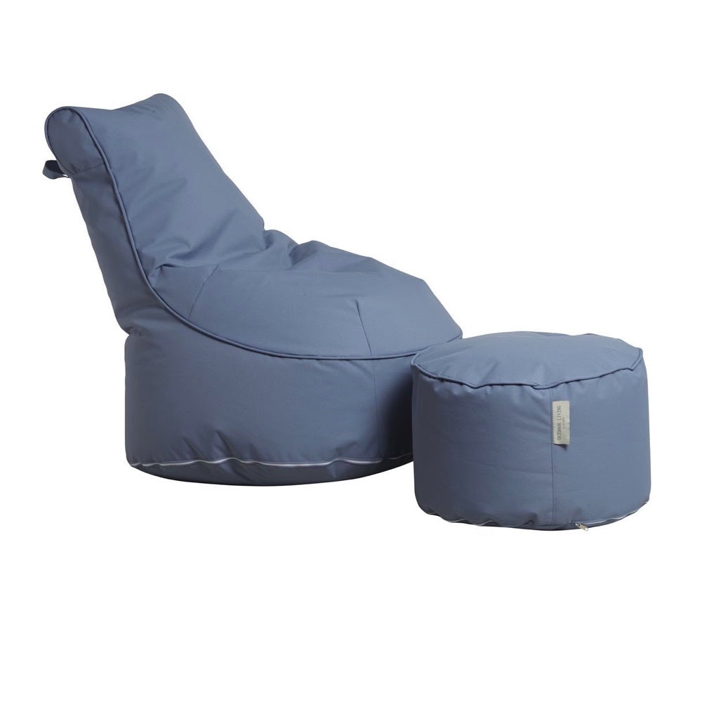 "Outdoor Sitting Bag ""Comfort"" and Pouf - Grey"