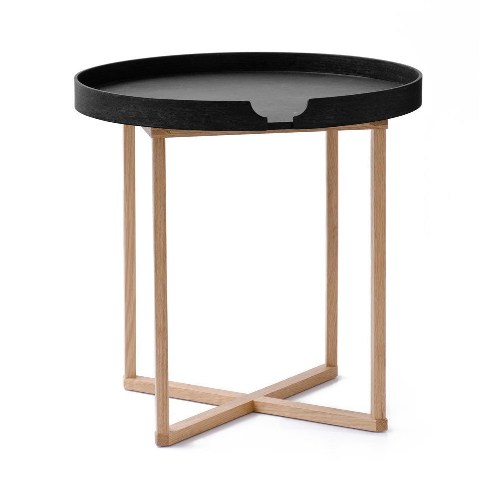 Damien Table Round - Black/Oak