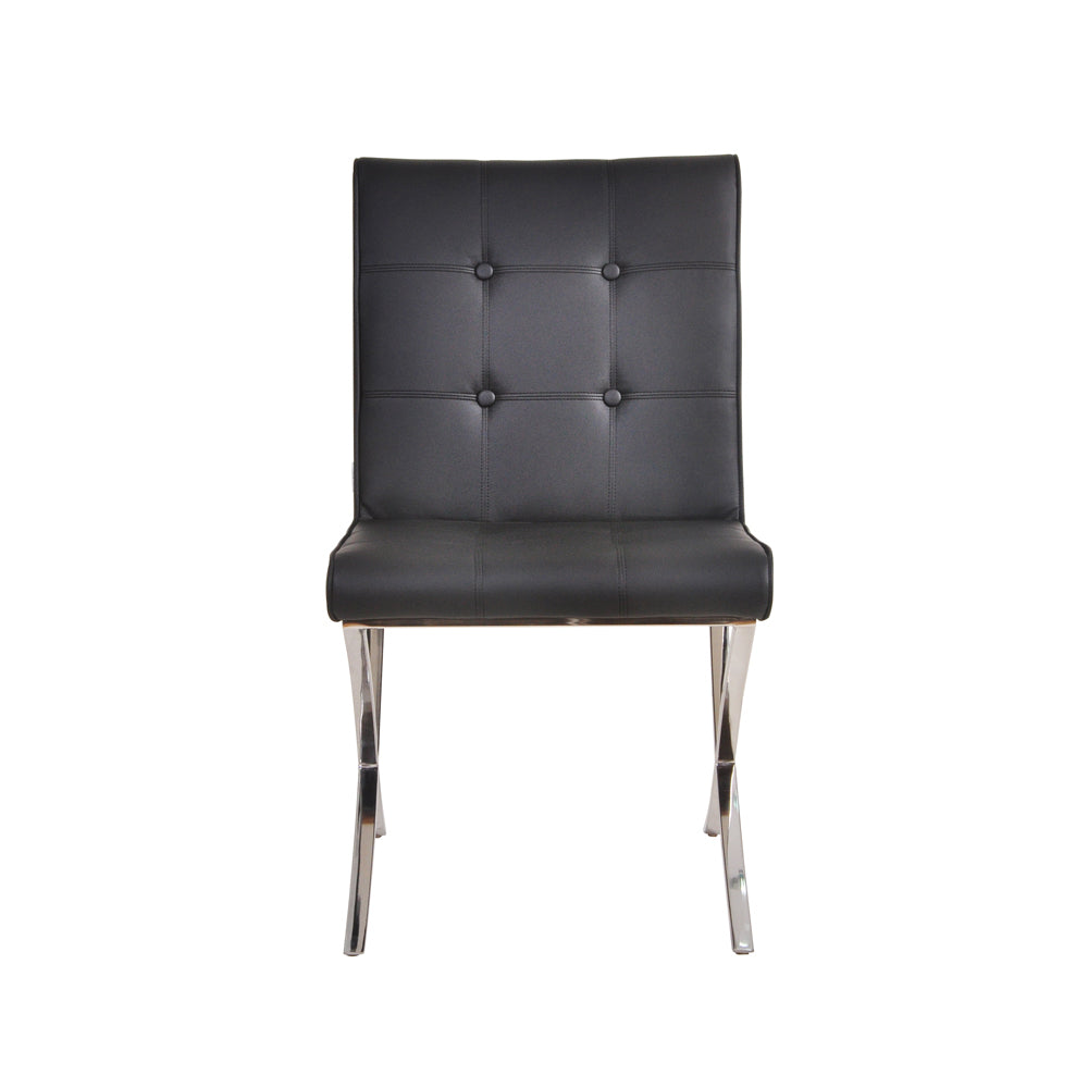 Mucia PU Chair - Black, Set of 2