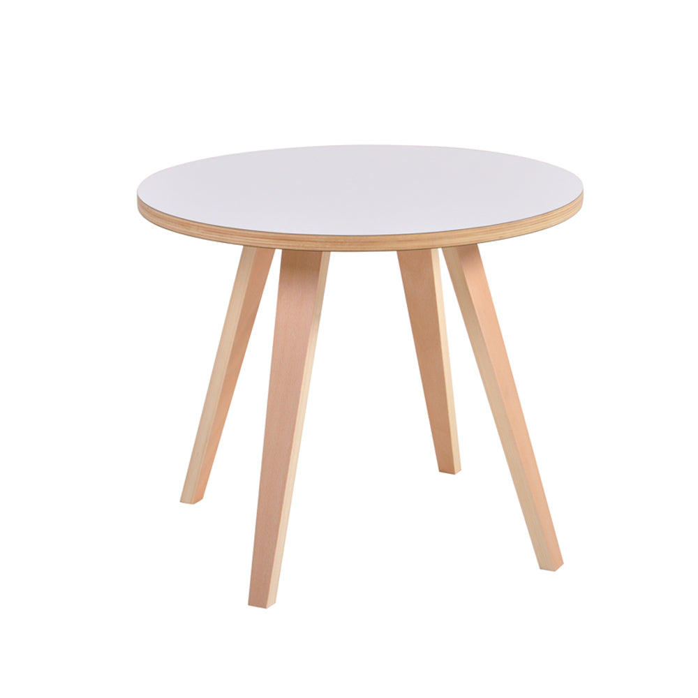 Arvika Round Side Table - White
