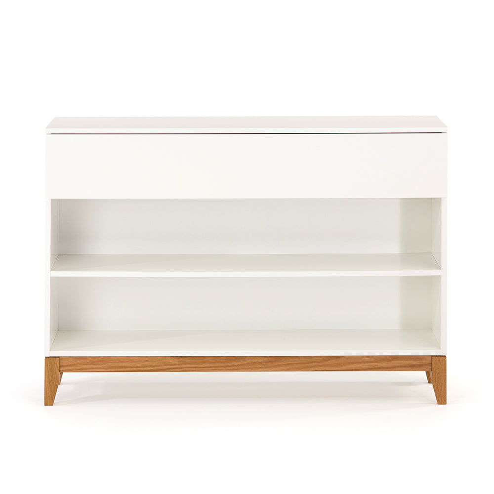 Blanco Console Bookcase - White/Oak