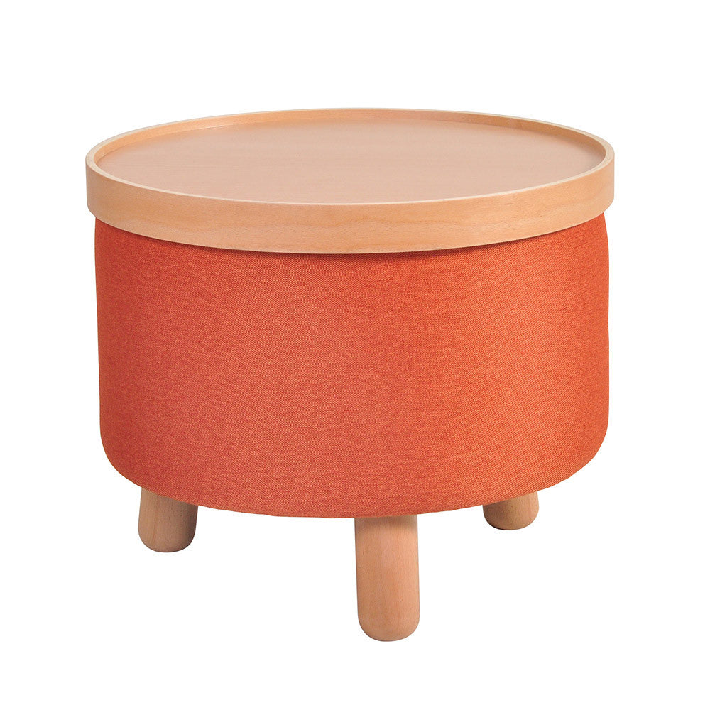 Stool Molde with Removable Tray Large - Orange