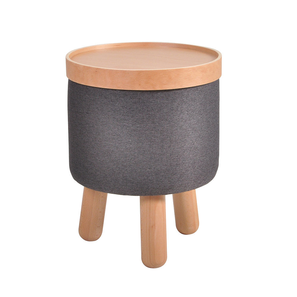 Stool Molde with Removable Tray Small - Dark Grey