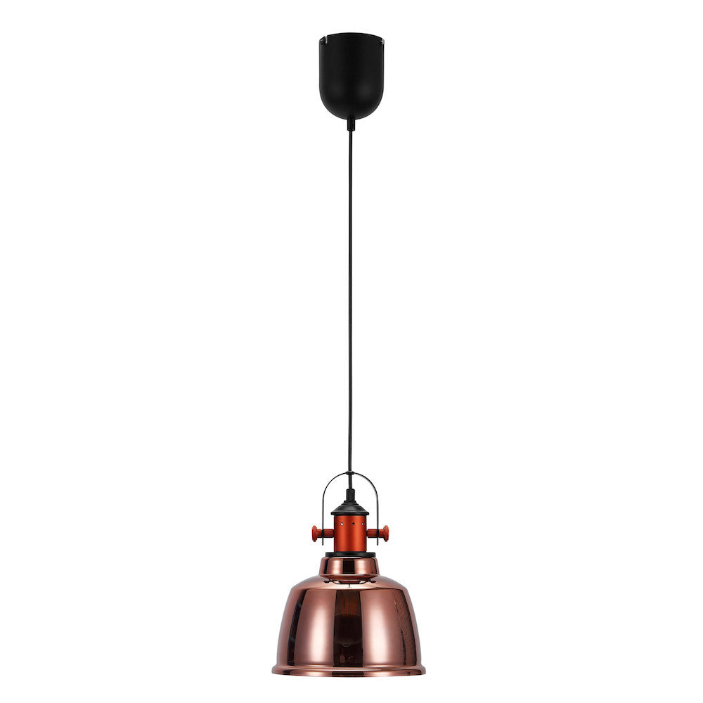 "Pendant Lamp ""Etel"" - Glass, Copper/Red"