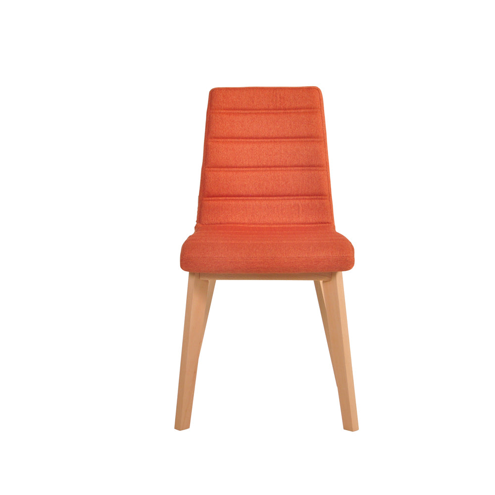 Nybro Fabric Chair - Orange, Set of 2