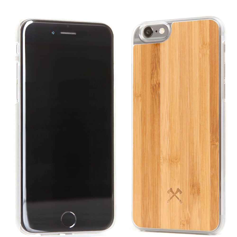 iPhone Eco Case Casual - Bamboo + Transparent