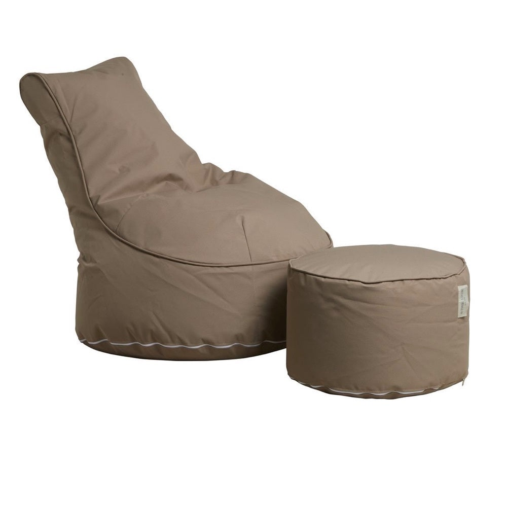 "Outdoor Sitting Bag ""Comfort"" and Pouf - Beige"