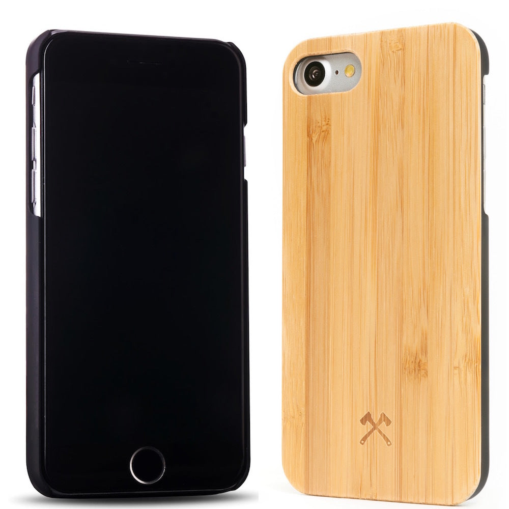 iPhone Eco Case Classic - Bamboo + Black