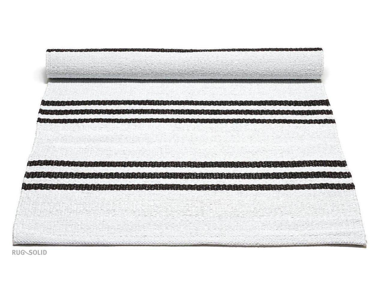 PLASTIC RUG - WHITE/CHOCO STRIPES
