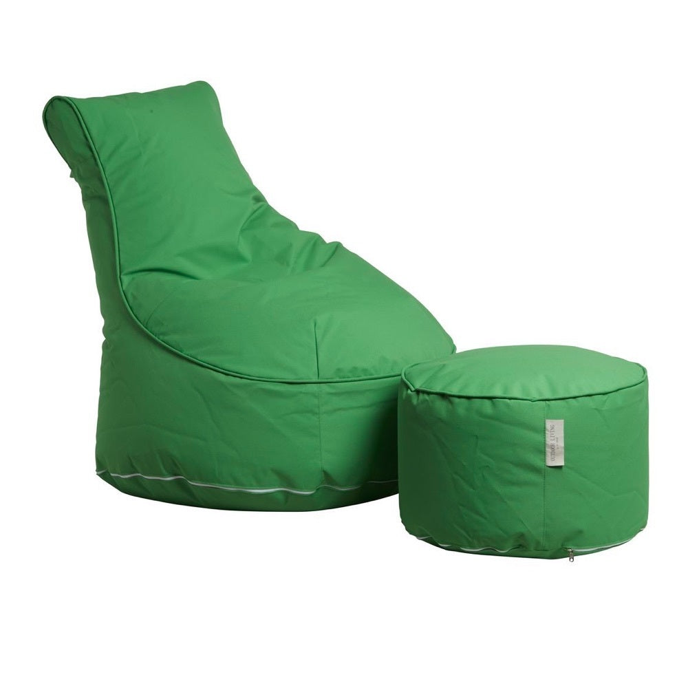 "Outdoor Sitting Bag ""Comfort"" and Pouf - Green"