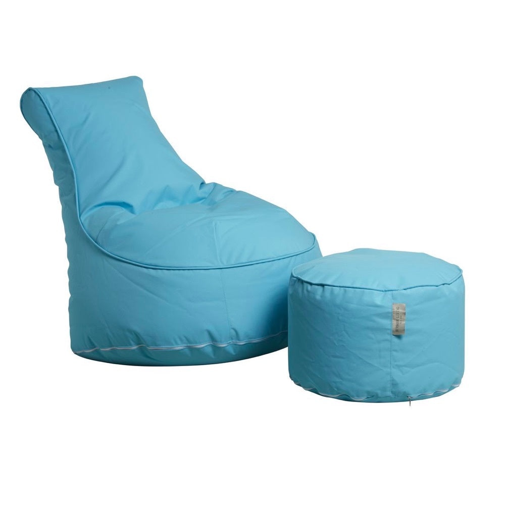 "Outdoor Sitting Bag ""Comfort"" and Pouf - Turquoise"