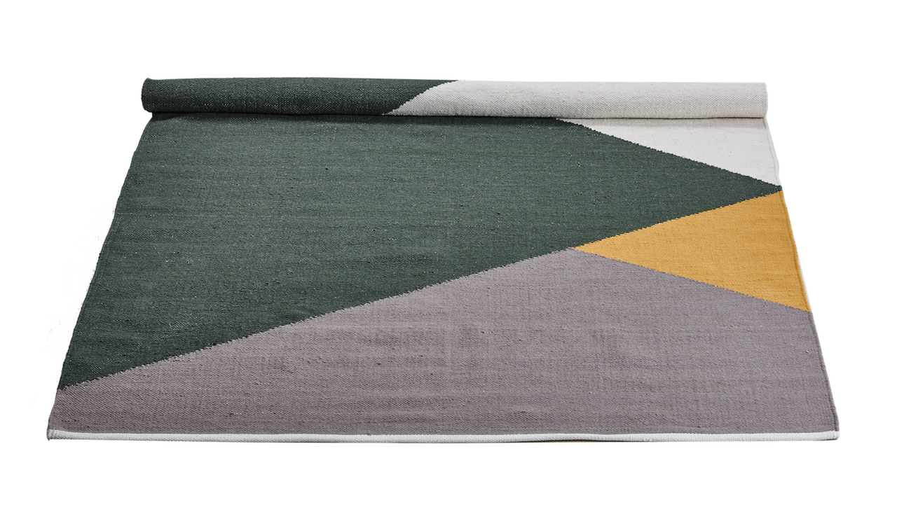 WOOL RUG - HORIZON GREEN/AMBER/GREY BIG