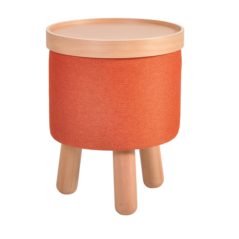 Stool Molde with Removable Tray Small - Orange