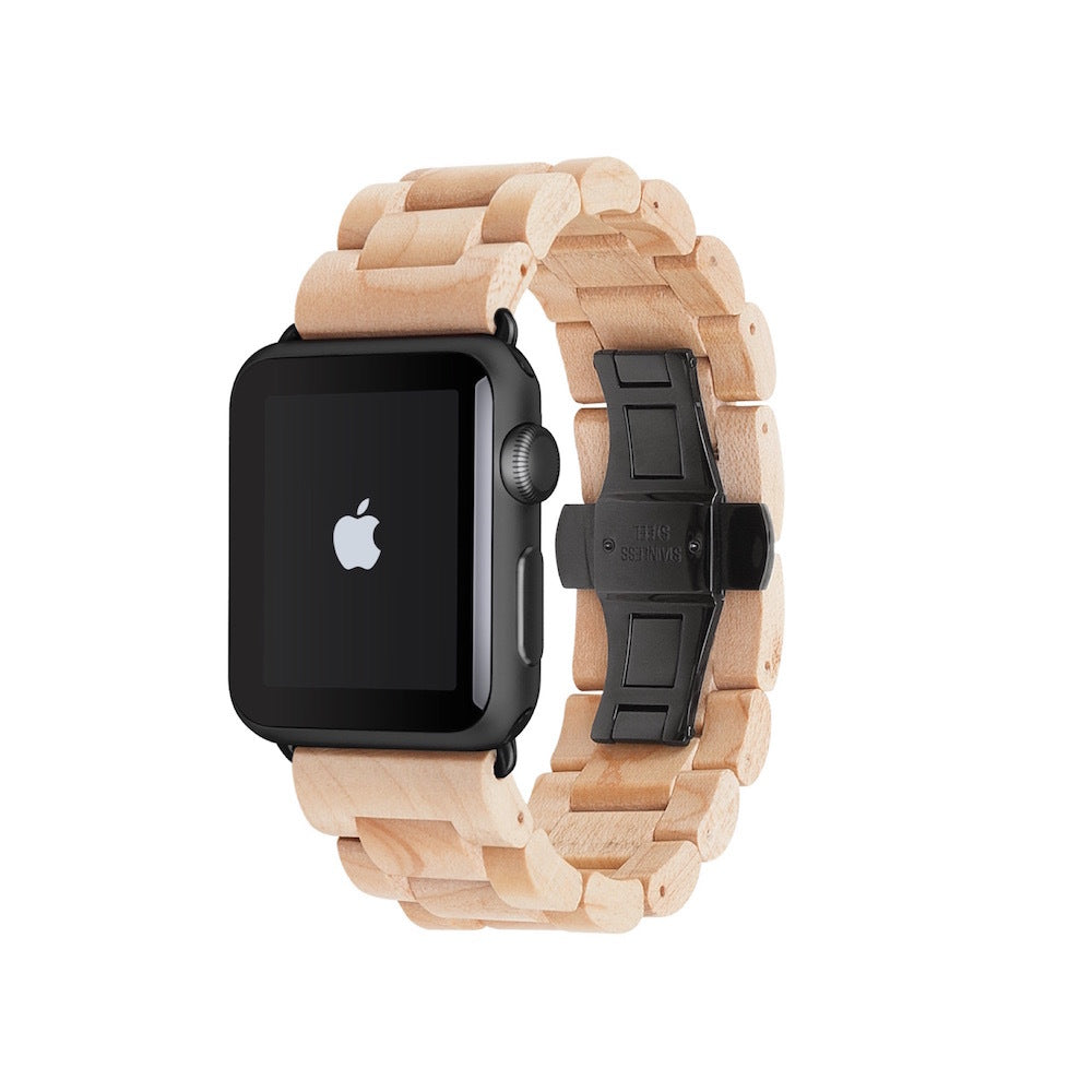 Wooden Strap for Apple Watch - Maple Black