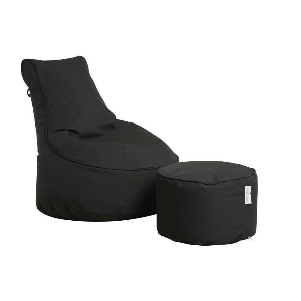 "Outdoor Sitting Bag ""Comfort"" and Pouf - Black"