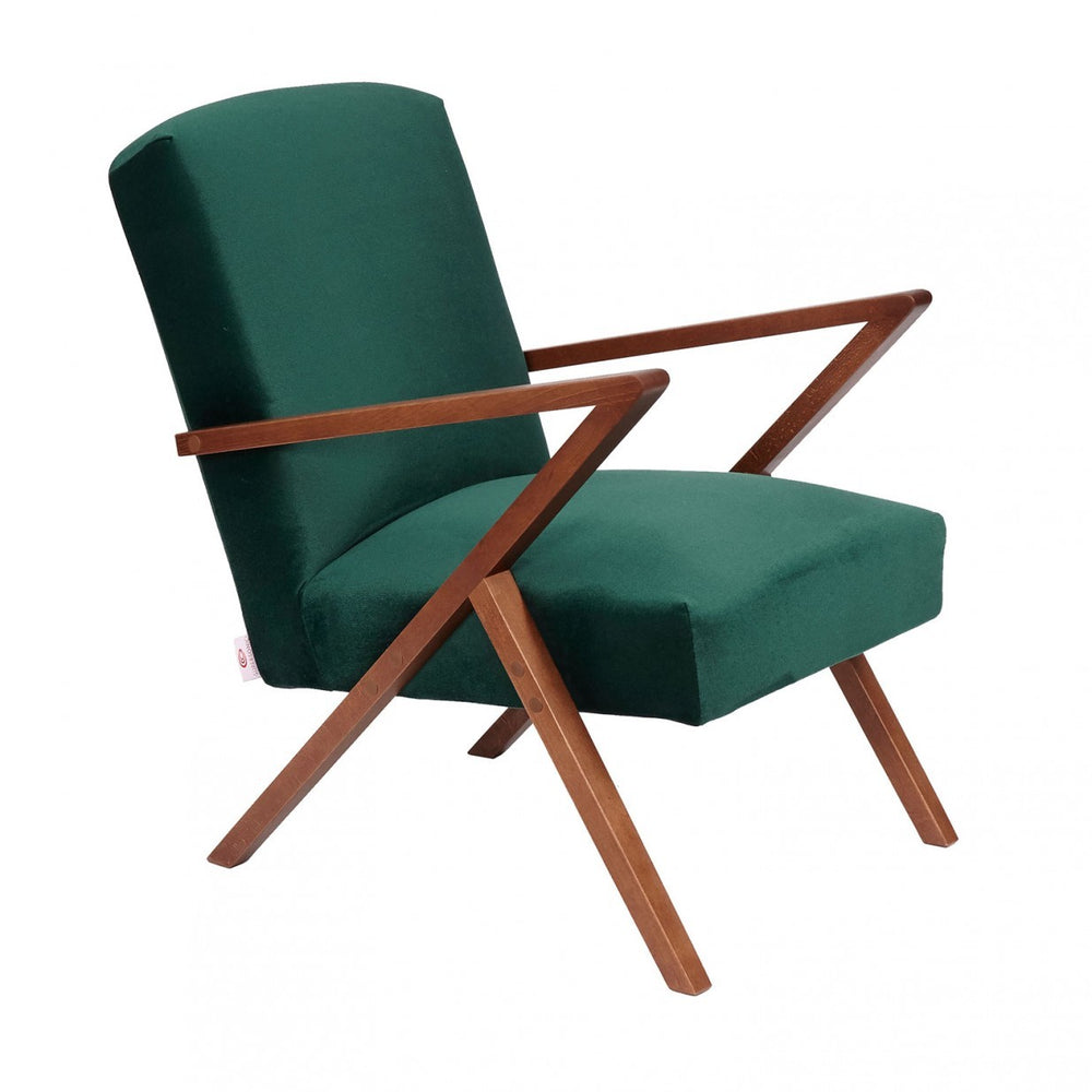 Retrostar Velvet Chair - Hunter Green