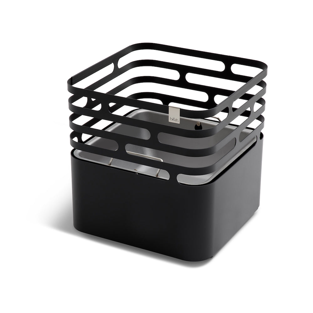 CUBE - Fire Basket, Black