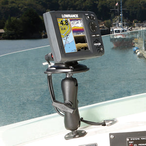 "RAM 1.5"" Ball Marine Electronic ""RUGGED USE"" Mount for the Humminbird 100, 300, 500, 700 Series, Matrix Series and Lowrance Elite-5 Series - Gizmobusters"