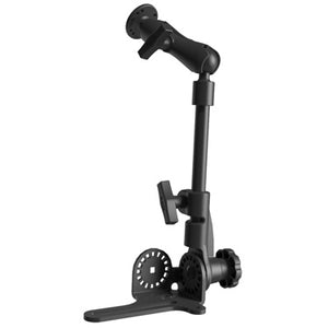 "RAM Universal No-Drill™RAM POD HD Vehicle Mount with Double Socket Arm & 2.5"" Round Base (AMPs Hole Pattern) - Gizmobusters"