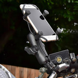 RAM Handlebar Rail Mount with Zinc Coated U-Bolt Base and Universal X-Grip® Cell/iPhone Cradle - Gizmobusters