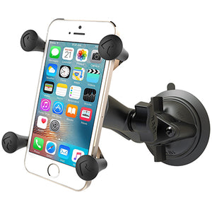 RAM Twist Lock Suction Cup Mount with Universal X-Grip® Cell Phone Holder - Gizmobusters