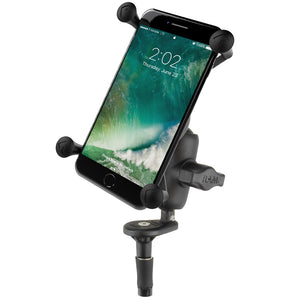 RAM Fork Stem Mount with Short Double Socket Arm & Universal X-Grip® Large Phone Cradle - Gizmobusters