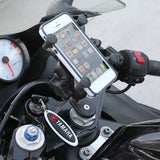 RAM Fork Stem Mount with Short Double Socket Arm & Universal X-Grip® Cell/iPhone Cradle - Gizmobusters