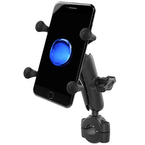 "RAM® Torque™ 3/4"" - 1"" Diameter Handlebar/Rail Base with 1"" Ball, Medium Arm and RAM® X-Grip® for Phones - Gizmobusters"