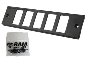 "RAM Tough-Box™Console Custom 2"" Faceplate. Accommodates Five Switches - Gizmobusters"
