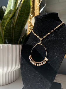 Gold Circle & Square Necklace
