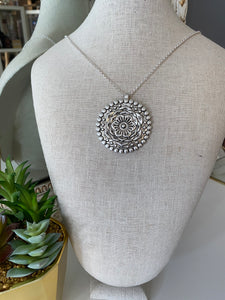 Silver Flower Medallion