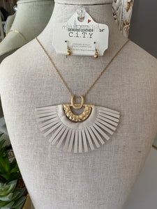 Leather Aztec Long Necklaces