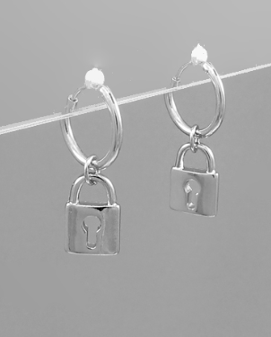 Lock Dangle Hoops