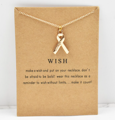Support Ribbon Necklace