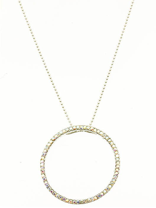 Iridescent Circle Necklace