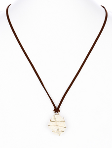 Stone and Leather Necklace Mini