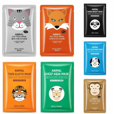 Image of Cute Animal Nourishing Face Mask - Full set of 7 - Gizmostars
