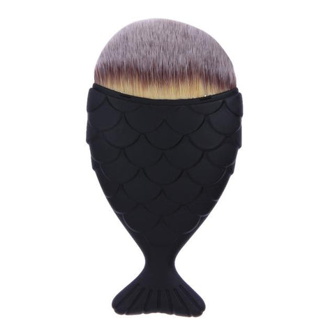 Dwarf Mermaid Makeup Brush - YellowBlack - Gizmostars