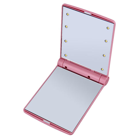 Image of LED Cosmetic Vanity Mirror - Small / Pink - Gizmostars