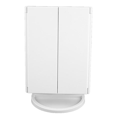 Image of LED Cosmetic Vanity Mirror - Large Tri Fold / White - Gizmostars
