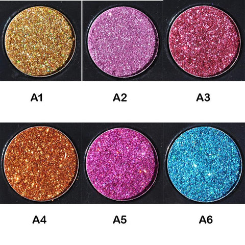 Rainbow Glitter Eye Shadow -  - Gizmostars