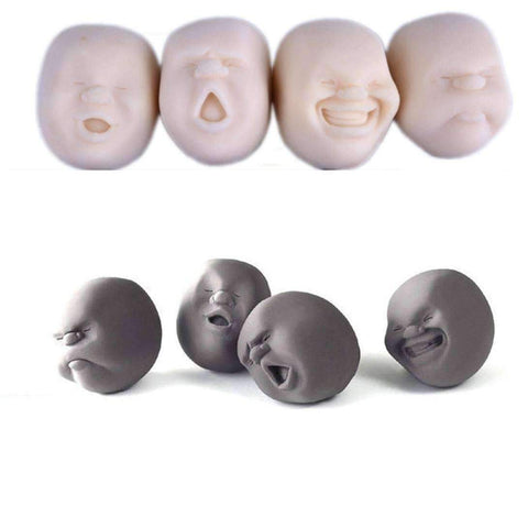 Emotional Stress Ball Face - Beige / Set of 4 (SAVE $$$ BEST VALUE) - Gizmostars