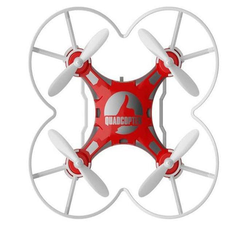 Mini Pocket Quad-copter Drone With Switchable Controller - Red - Gizmostars