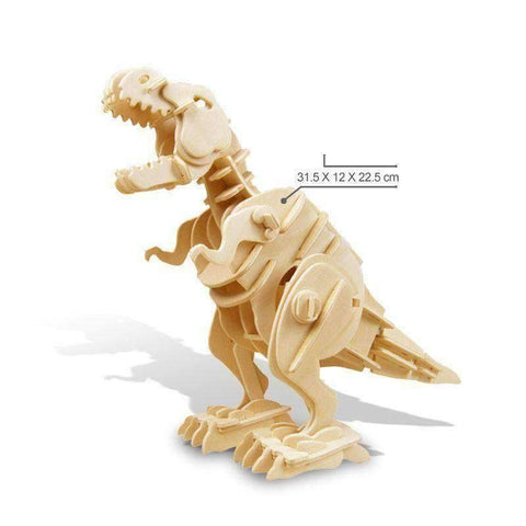 Image of RC Controlled 3D Dinosaur Puzzle - T-Rex / Sound Control - Gizmostars