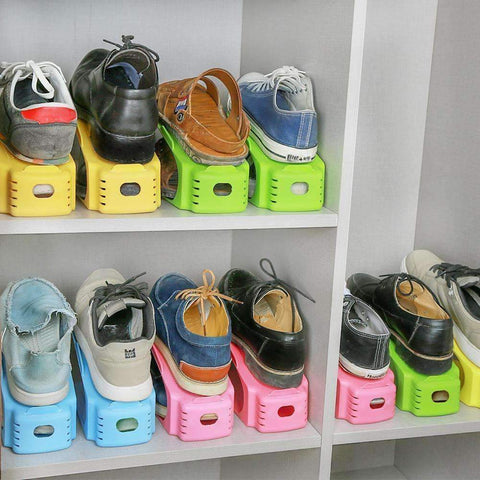 Space Saving Double Shoe Rack -  - Gizmostars