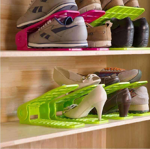 Space Saving Double Shoe Rack