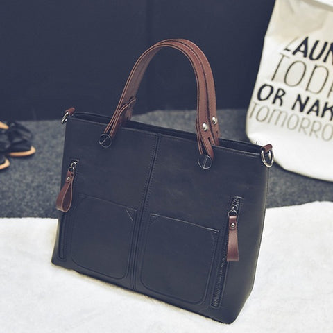 Luxury Designer Double Zip Handbag