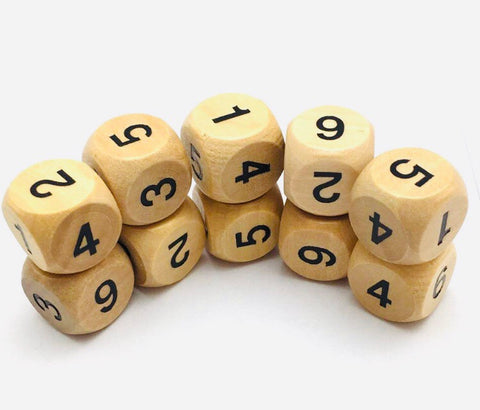 Wooden Dice - a pair